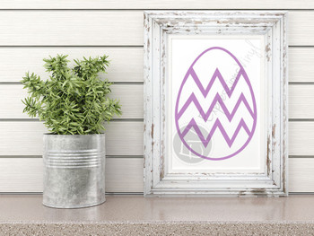 Chevron Egg Digital Cut File