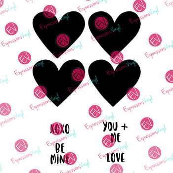 Candy Hearts Digital Cut File