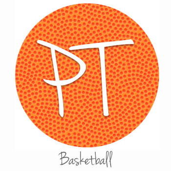 "12""x12"" Permanent Patterned Vinyl - Basketball"