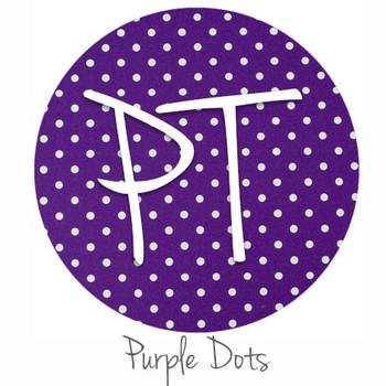 """12""""x12"""" Permanent Patterned Vinyl - Dots - Purple"""