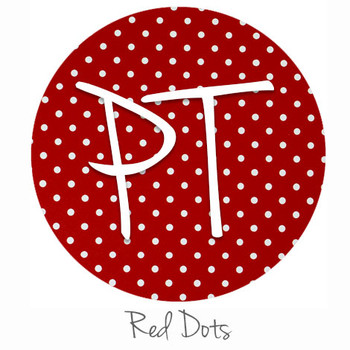 "12""x12"" Permanent Patterned Vinyl - Dots - Red"