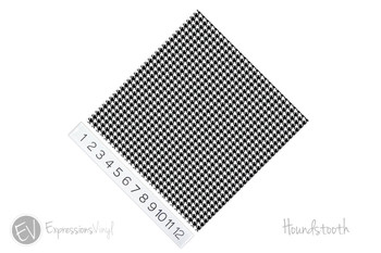 "12""x12"" Permanent Patterned Vinyl - Houndstooth"