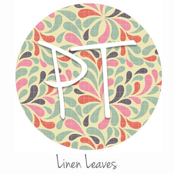 "12""x12"" Permanent Patterned Vinyl - Linen Leaves"