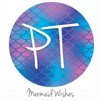 "12""x12"" Permanent Patterned Vinyl - Mermaid Wishes"