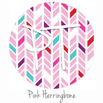 "12""x12"" Permanent Patterned Vinyl - Pink Herringbone"