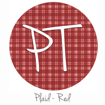 "12""x12"" Permanent Patterned Vinyl - Plaid Red"