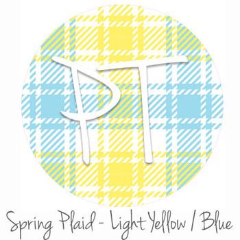 "12""x12"" Permanent Patterned Vinyl - Spring Plaid - Light Yellow/Blue"