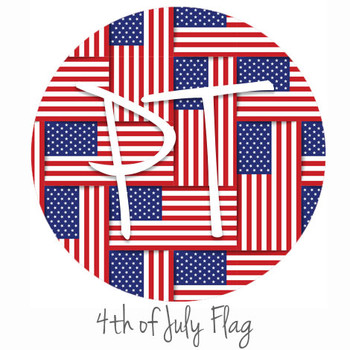 "12""x12"" Patterned Heat Transfer Vinyl - 4th of July Flag"