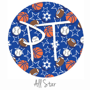 "12""x12"" Patterned Heat Transfer Vinyl - All Star"