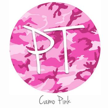 "12""x12"" Patterned Heat Transfer Vinyl - Camo - Pink"