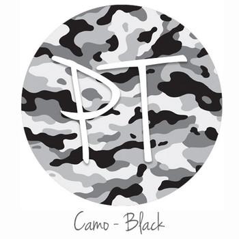 "12""x12"" Patterned Heat Transfer Vinyl - Camo - Black"