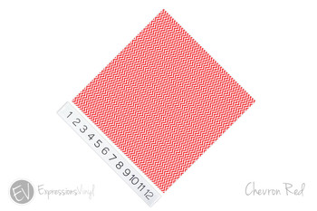 "12""x12"" Patterned Heat Transfer Vinyl - Chevron Red"
