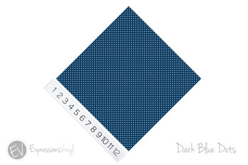 "12""x12"" Patterned Heat Transfer Vinyl - Dots - Dark Blue"