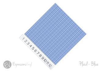 "12""x12"" Patterned Heat Transfer Vinyl - Plaid Blue"