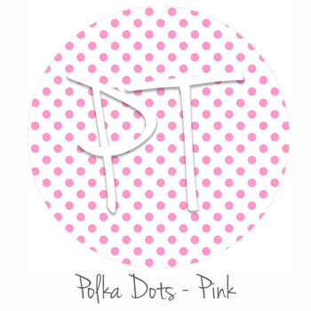 "12""x12"" Patterned Heat Transfer Vinyl - Polka Dots Pink"