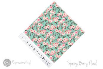 "12""x12"" Patterned Heat Transfer Vinyl - Spring Berry Floral"