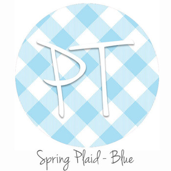 "12""x12"" Patterned Heat Transfer Vinyl - Spring Plaid - Blue"