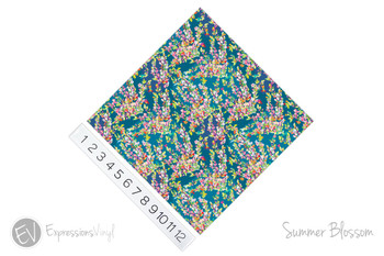 "12""x12"" Patterned Heat Transfer Vinyl - Summer Blossom"