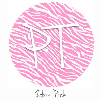 "12""x12"" Patterned Heat Transfer Vinyl - Zebra - Pink"