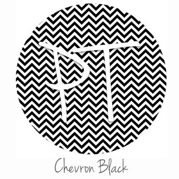 "12""x12"" Permanent Patterned Vinyl - Chevron Black"