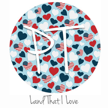 "12""x12"" Patterned Heat Transfer Vinyl - Land That I Love"