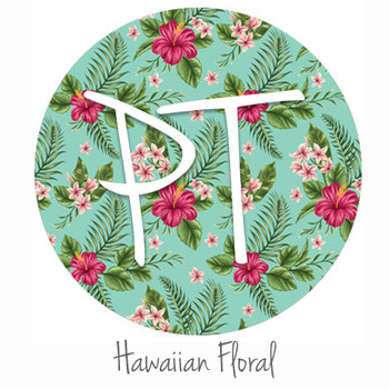 "12""x12"" Patterned Heat Transfer Vinyl - Hawaiian Floral"