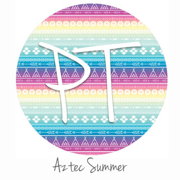 "12""x12"" Patterned Heat Transfer Vinyl - Aztec Summer"