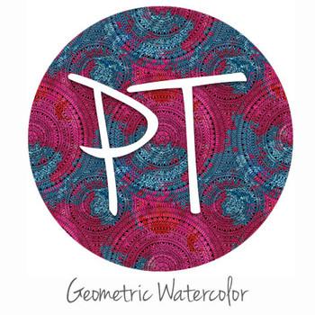 """12""""x12"""" Patterned Heat Transfer Vinyl - Geometric Watercolor"""