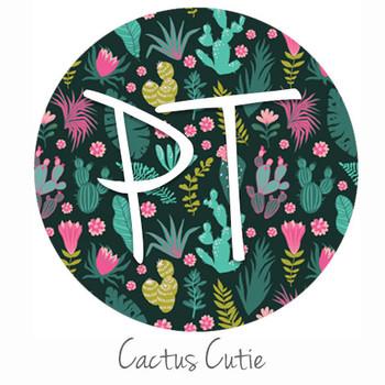 """12""""x12"""" Permanent Patterned Vinyl - Cactus Cutie"""