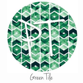 "12""x12"" Patterned Heat Transfer Vinyl - Green Tile"