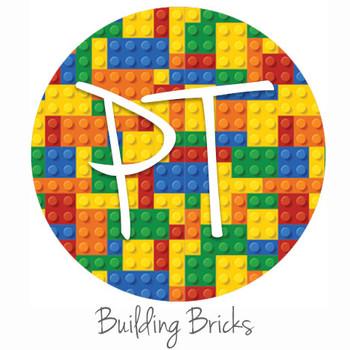 "12""x12"" Permanent Patterned Vinyl - Building Bricks"