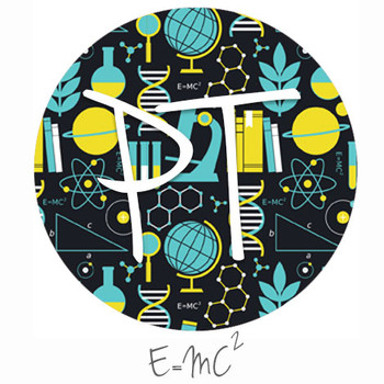 "12""x12"" Patterned Heat Transfer Vinyl - E=MC2"