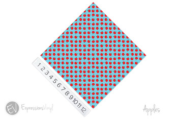 "12""x12"" Patterned Heat Transfer Vinyl - Apples"