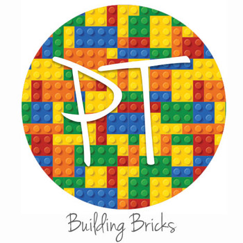 "12""x12"" Patterned Heat Transfer Vinyl - Building Bricks"