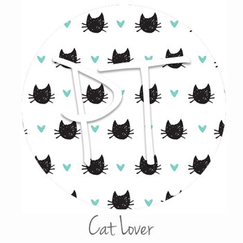 "12""x12"" Permanent Patterned Vinyl - Cat Lover"
