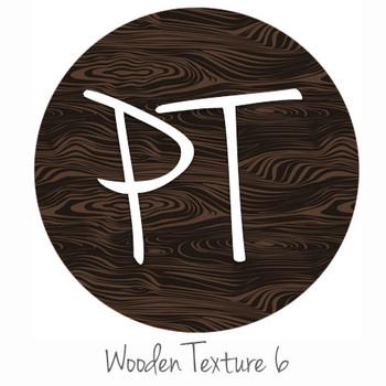 "12""x12"" Patterned Heat Transfer Vinyl - Wooden Texture 6"
