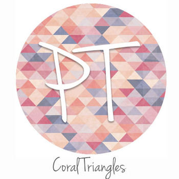 """12""""x12"""" Permanent Patterned Vinyl - Coral Triangles"""