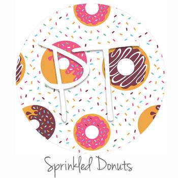 "12""x12"" Patterned Heat Transfer Vinyl - Sprinkled Donuts"