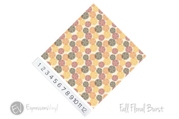 "12""x12"" Permanent Patterned Vinyl - Fall Floral Burst"