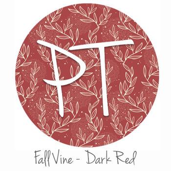 "12""x12"" Patterned Heat Transfer Vinyl - Fall Vine: Dark Red"