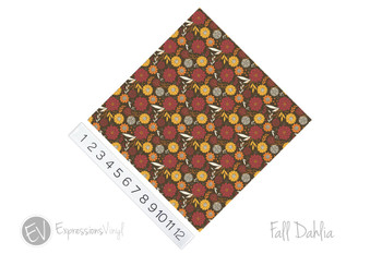 "12""x12"" Patterned Heat Transfer Vinyl - Fall Dahlia"