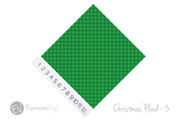 "12""x12"" Patterned Heat Transfer Vinyl - Christmas Plaid #3"