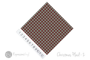 "12""x12"" Permanent Patterned Vinyl - Christmas Plaid #2"