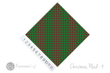 "12""x12"" Permanent Patterned Vinyl - Christmas Plaid #4"