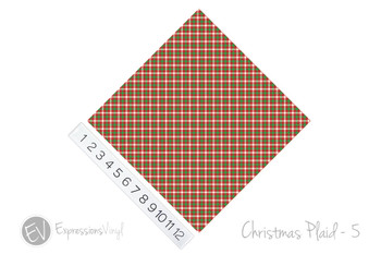 "12""x12"" Permanent Patterned Vinyl - Christmas Plaid #5"