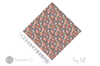 "12""x12"" Permanent Patterned Vinyl - Foxy Fall"