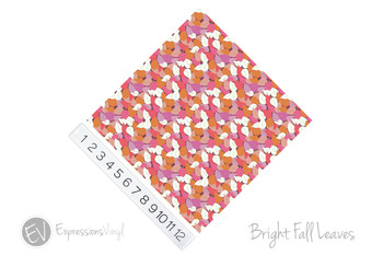 """12""""x12"""" Permanent Patterned Vinyl - Bright Fall Leaves"""