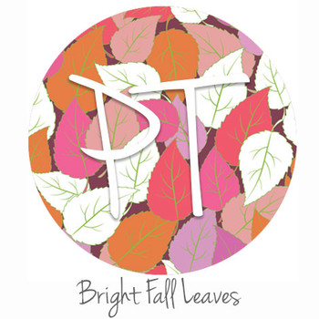 "12""x12"" Patterned Heat Transfer Vinyl - Bright Fall Leaves"