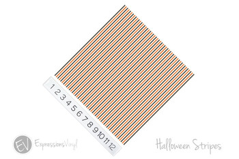 "12""x12"" Patterned Heat Transfer Vinyl - Halloween Stripes"