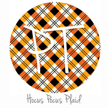"12""x12"" Patterned Heat Transfer Vinyl - Hocus Pocus Plaid"